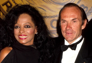 Diana Ross and Arne Naess, 1990