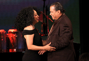 Diana Ross and Billy Dee Williams