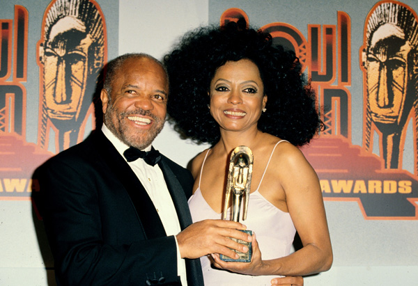 Diana Ross and Berry Gordy at the Soul Train Music Awards, 1995
