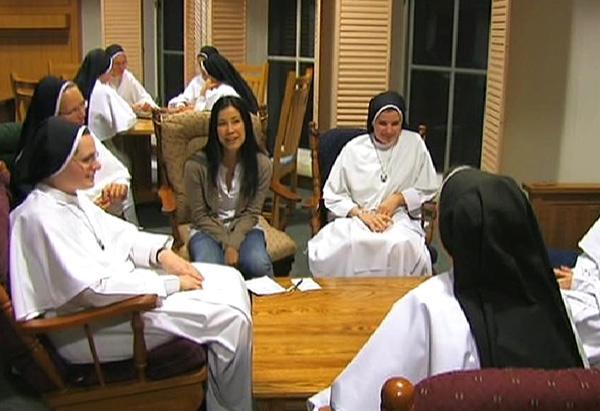 Lisa Ling inside a convent