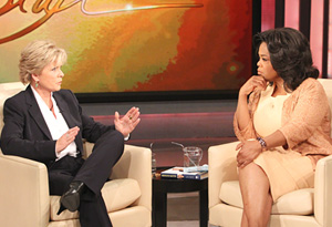 Meredith Baxter and Oprah