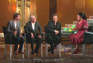 Tom Hooper, Geoffrey Rush, Colin Firth and Oprah