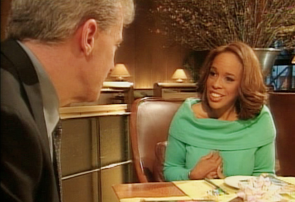Gayle King and her blind date