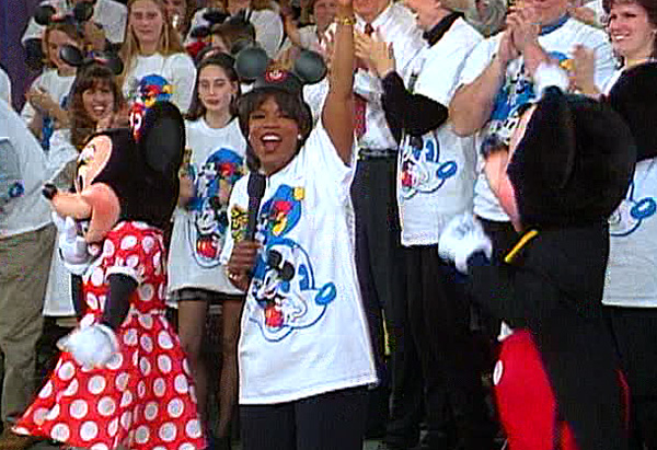 Oprah gives away a trip to Disney World