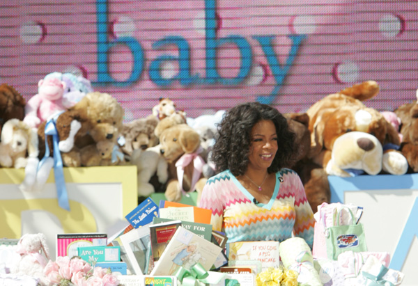 Oprah throws a baby shower