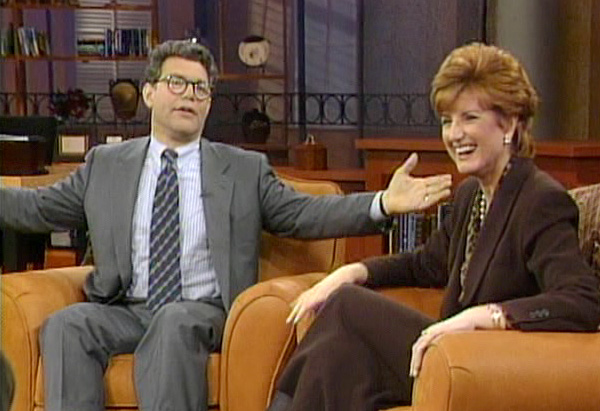Al Franken and Arianna Huffington