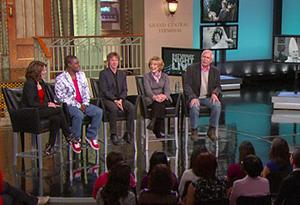 Tina Fey, Tracy Morgan, Dana Carvey, Jane Curtin and Chevy Chase