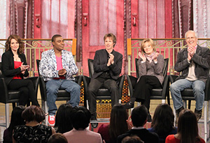 Tina Fey, Tracy Morgan, Dana Carvey, Jane Curtin and Chevy Chase