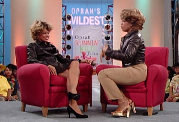 Oprah in her Tina Turner wig.