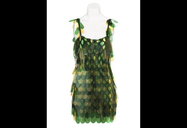 Mary Wilson of the Supremes' green petal dress