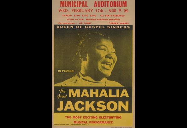 Mahalia Jackson's concert poster