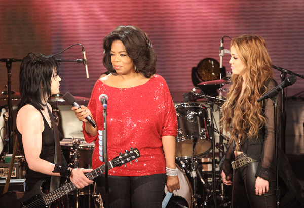 Joan Jett, Oprah and Miley Cyrus