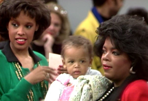 Gayle, Kirby and Oprah in 1987