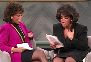 Gayle and Oprah in 1991