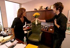 Gayle and Josh Groban