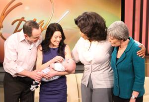 Oprah, Sara, Bill, Kris and Finn