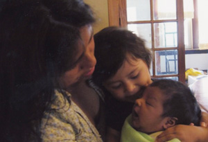 Magali, Akary and baby Armando