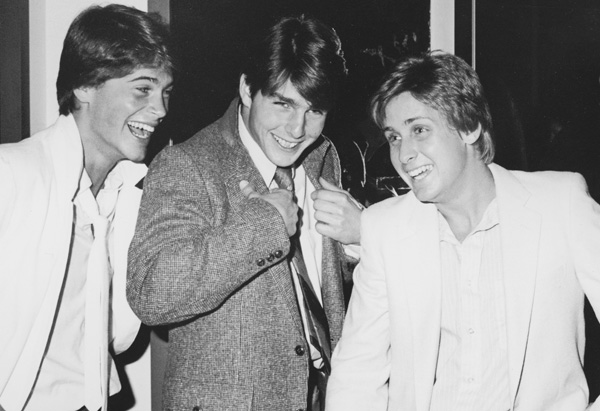 Rob, Tom Cruise and Emilio Estevez