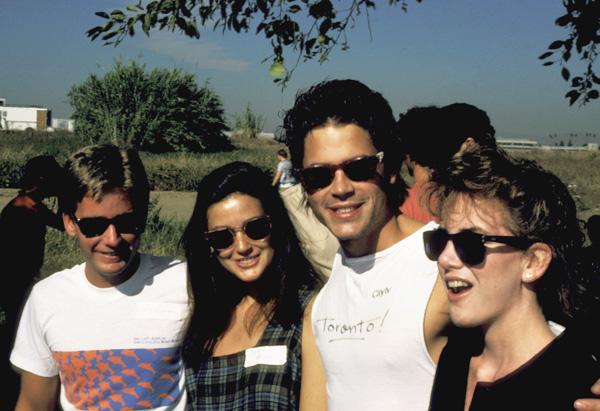 Rob Lowe, Emilio Estevez, Demi Moore and Melissa Gilbert