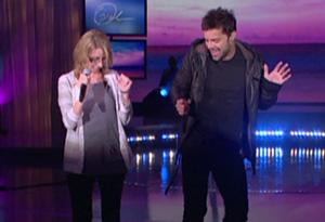 Kelly and Ricky Martin
