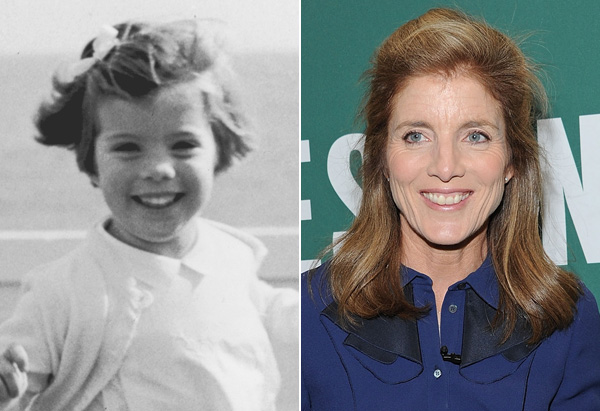 Caroline Kennedy in 1961 and 2011