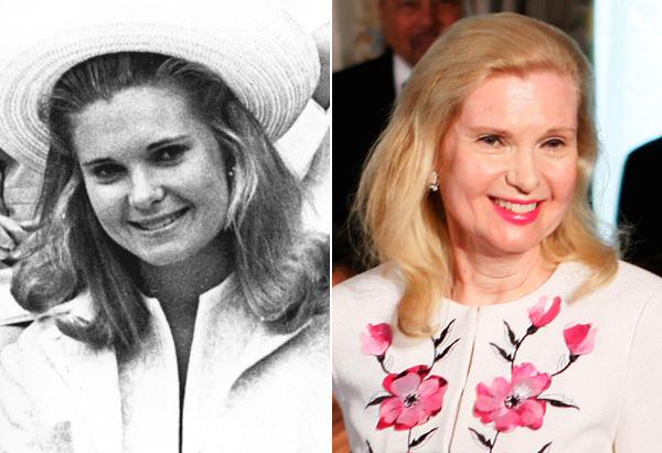 Tricia Nixon Cox in 1969 and 2010