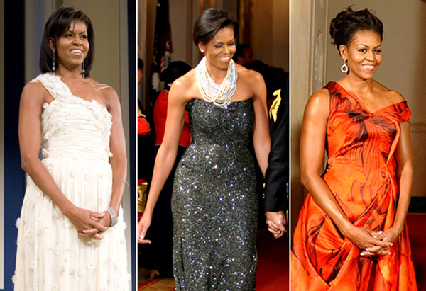 Michelle Obama's style - gowns from black-tie events