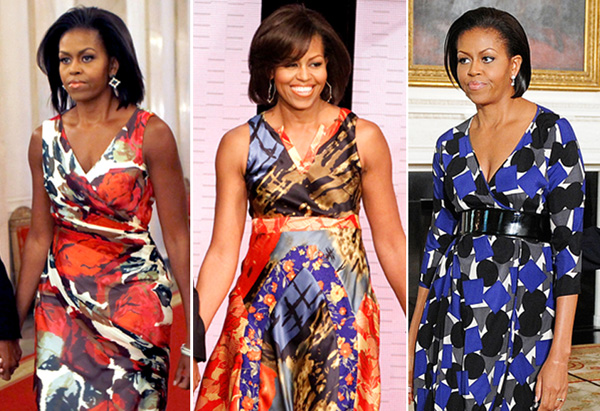 Michelle Obama's style - patterned dresses