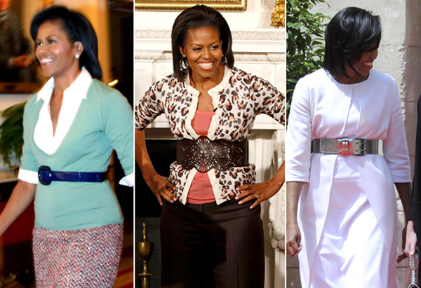 Michelle Obama's style - belts