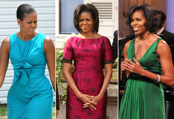 Michelle Obama's style - bright colors
