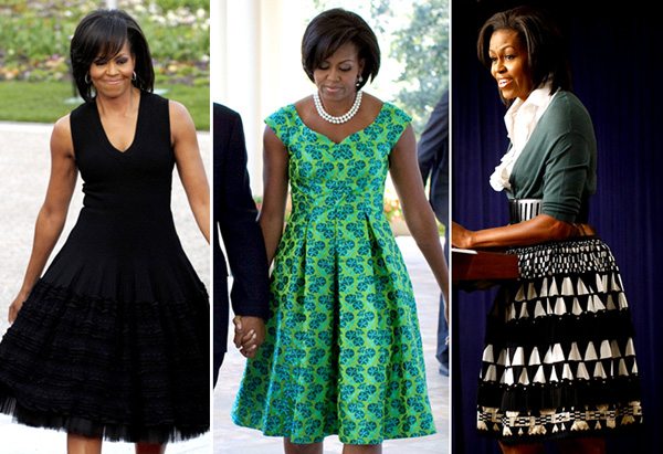 Michelle Obama's style - full skirts