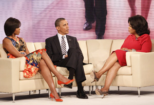 President and Mrs. Obama with Oprah