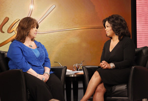 Stacey Halprin with Oprah