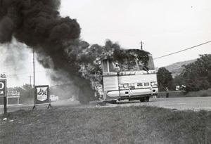 Freedom Riders' bus set ablaze