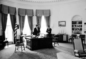 President John F. Kennedy and Robert Kennedy
