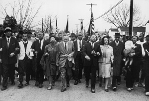 Americans marching