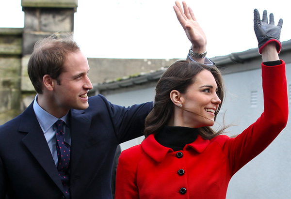 Prince William and Kate visit St Andrews