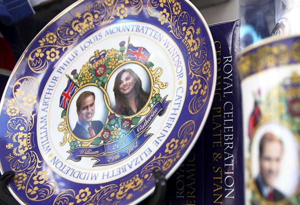 Royal wedding commemorative saucers