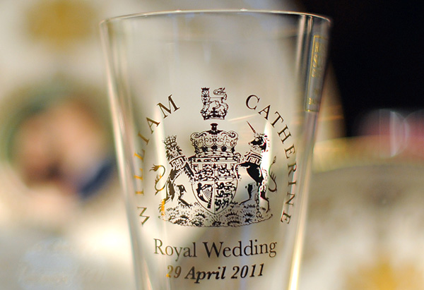Royal wedding commemorative shot glass