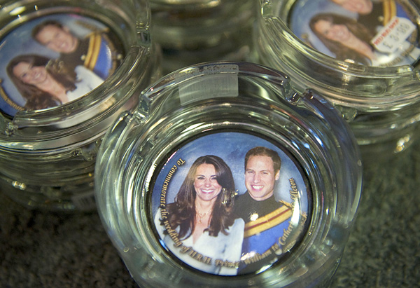 Royal wedding commemorative ashtray