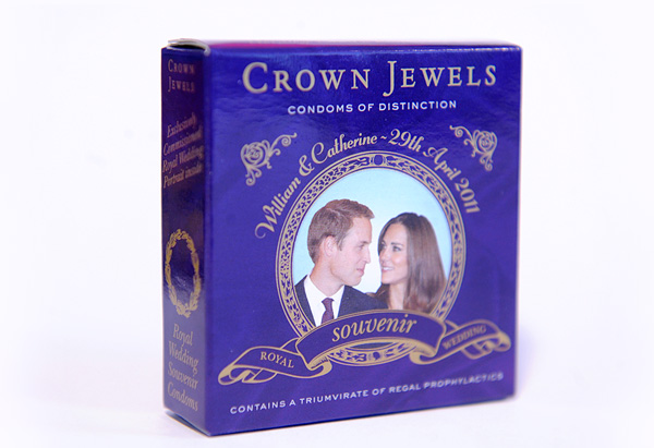 Royal wedding commemorative condoms