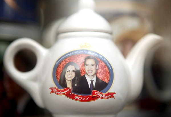 A royal wedding commemorative teapot