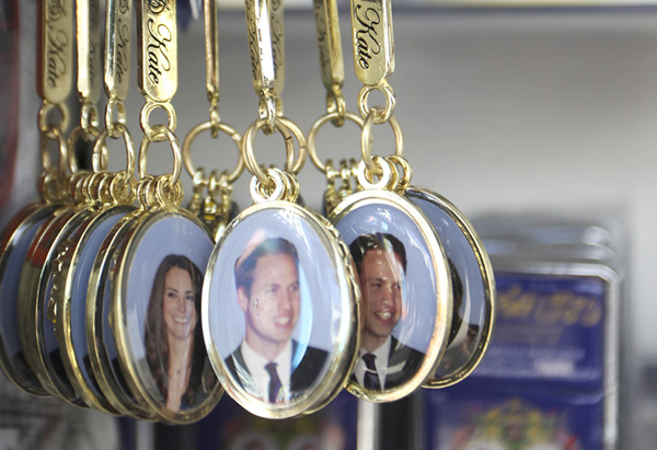 Royal wedding commemorative key rings