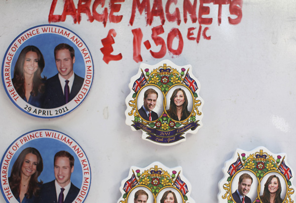 Royal wedding commemorative magnets