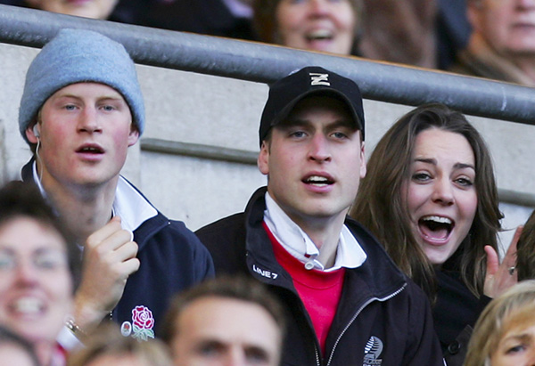 William and Kate root for England rugby