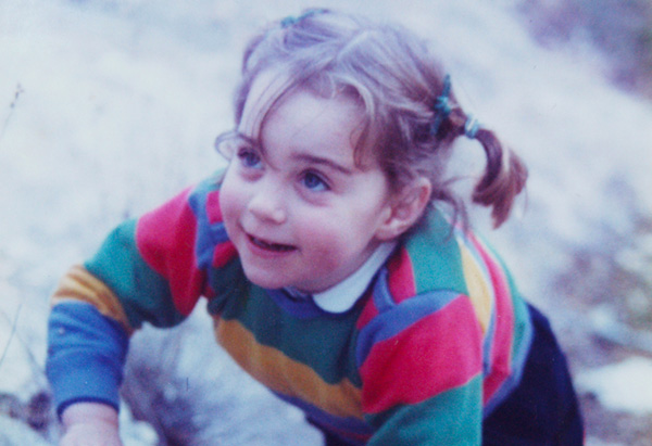 Kate Middleton at age 3