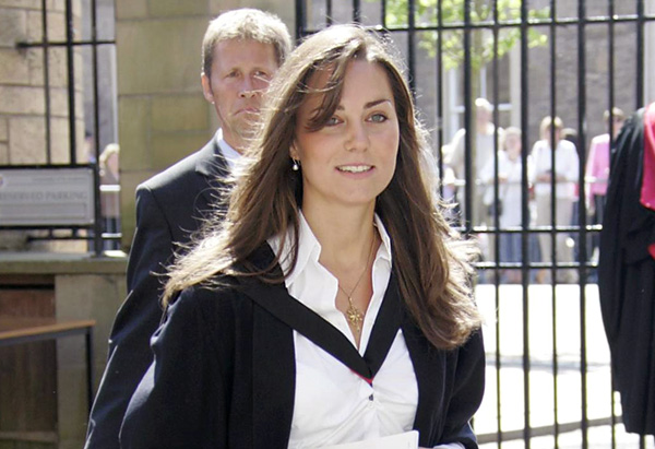 Kate Middleton at college graduation
