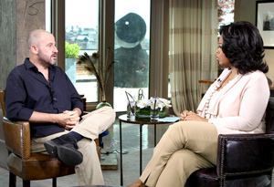James Frey and Oprah in 2011