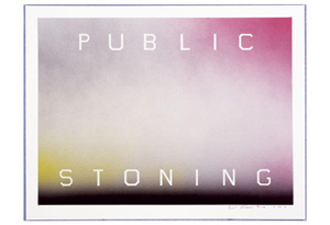 James Frey's 'Public Stoning' painting