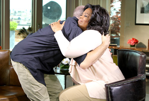 James Frey and Oprah hugging